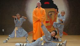 Shi Yan Fan with young Shaolin Warriors in training. Kevin Song, Isabella DiPrima, Nicholas DiPrima - Wikipedia